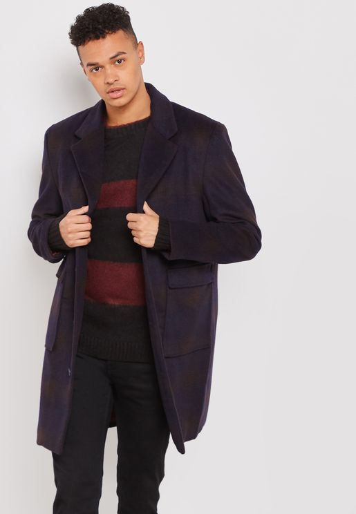 3 Button Down Chance Over Coat
