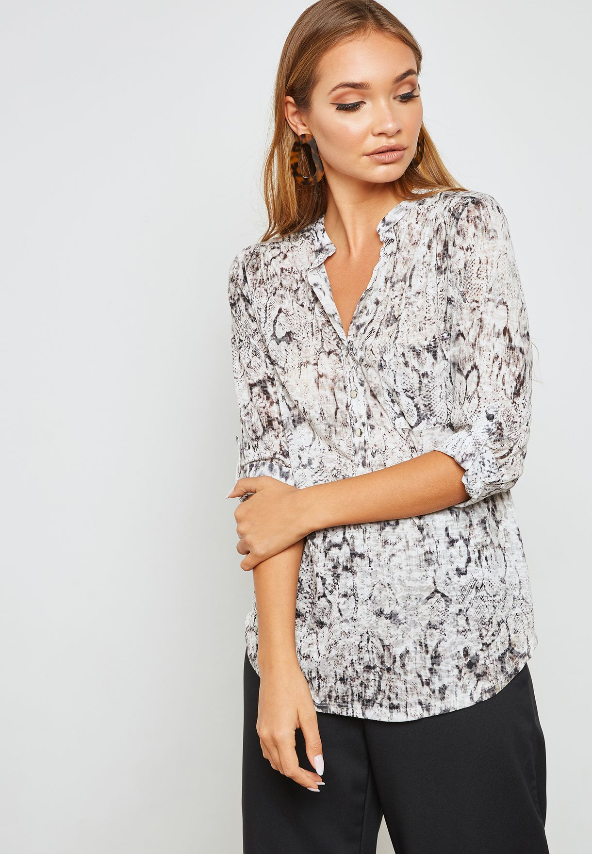 706ba3fb5d552 Shop Wallis prints Snake Print Shirt 254422137 for Women in UAE ...