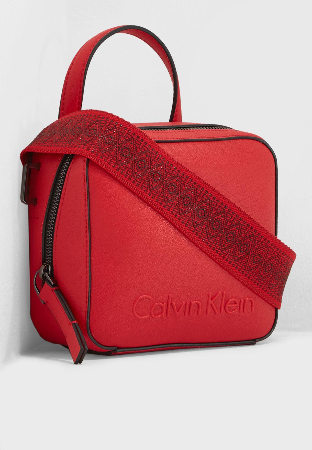 9faddaac24a7 Shop Calvin Klein red Small Edge Seasonal Crossbody K60K604002 for ...