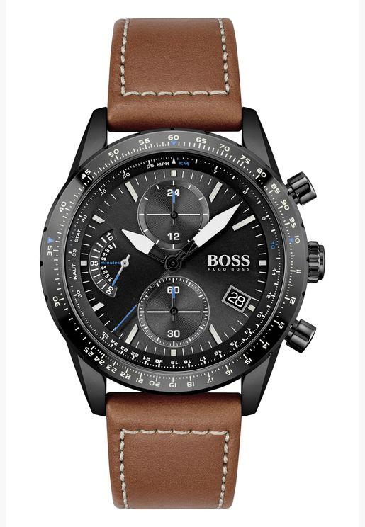 هوغو بوس ساعة بايلوت اديشن كرونو جلد للرجال - 1513851