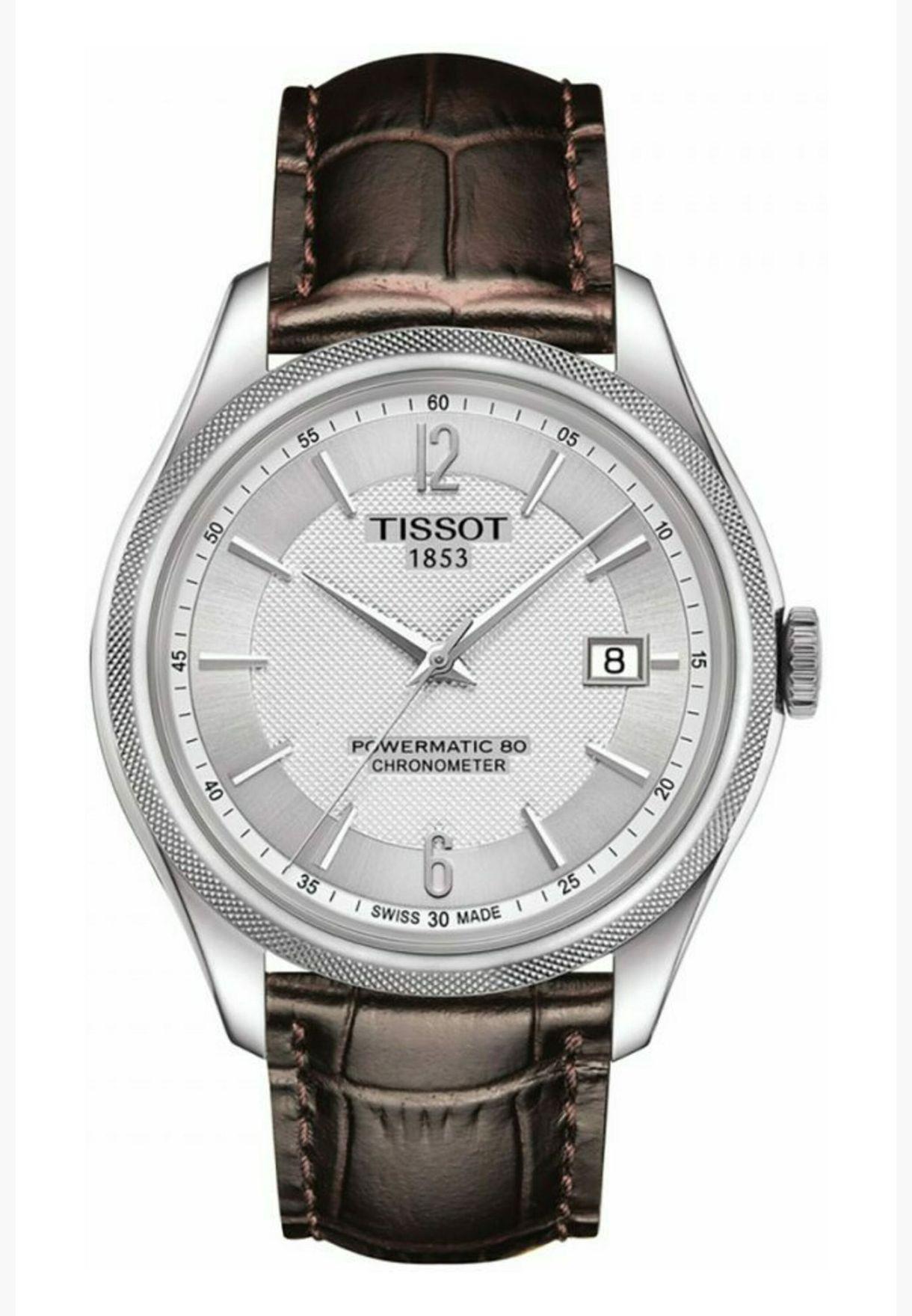 ساعة تيسو باليد بسوار جلدي - T108.408.16.037.00