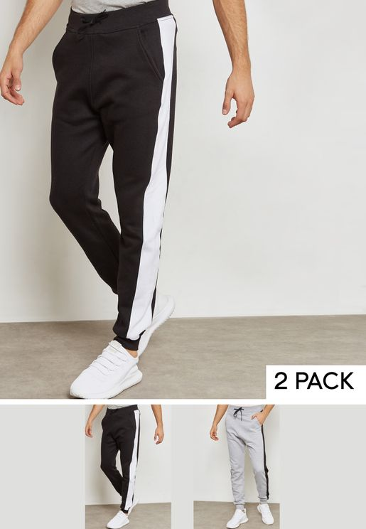 2 Pack Side Stripe Sweatpants