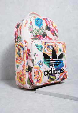 Floral Print Classic Backpack