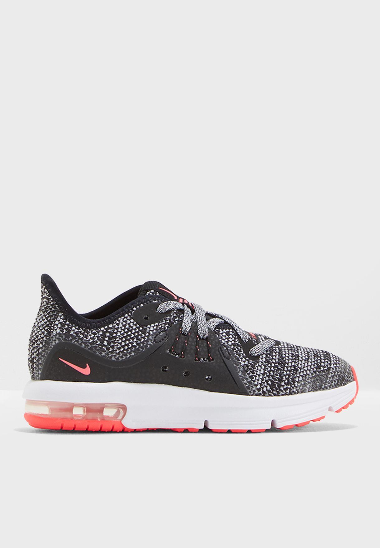4901d04a98 Shop Nike monochrome Air Max Sequent 3 Kids AO1252-001 for Kids in ...