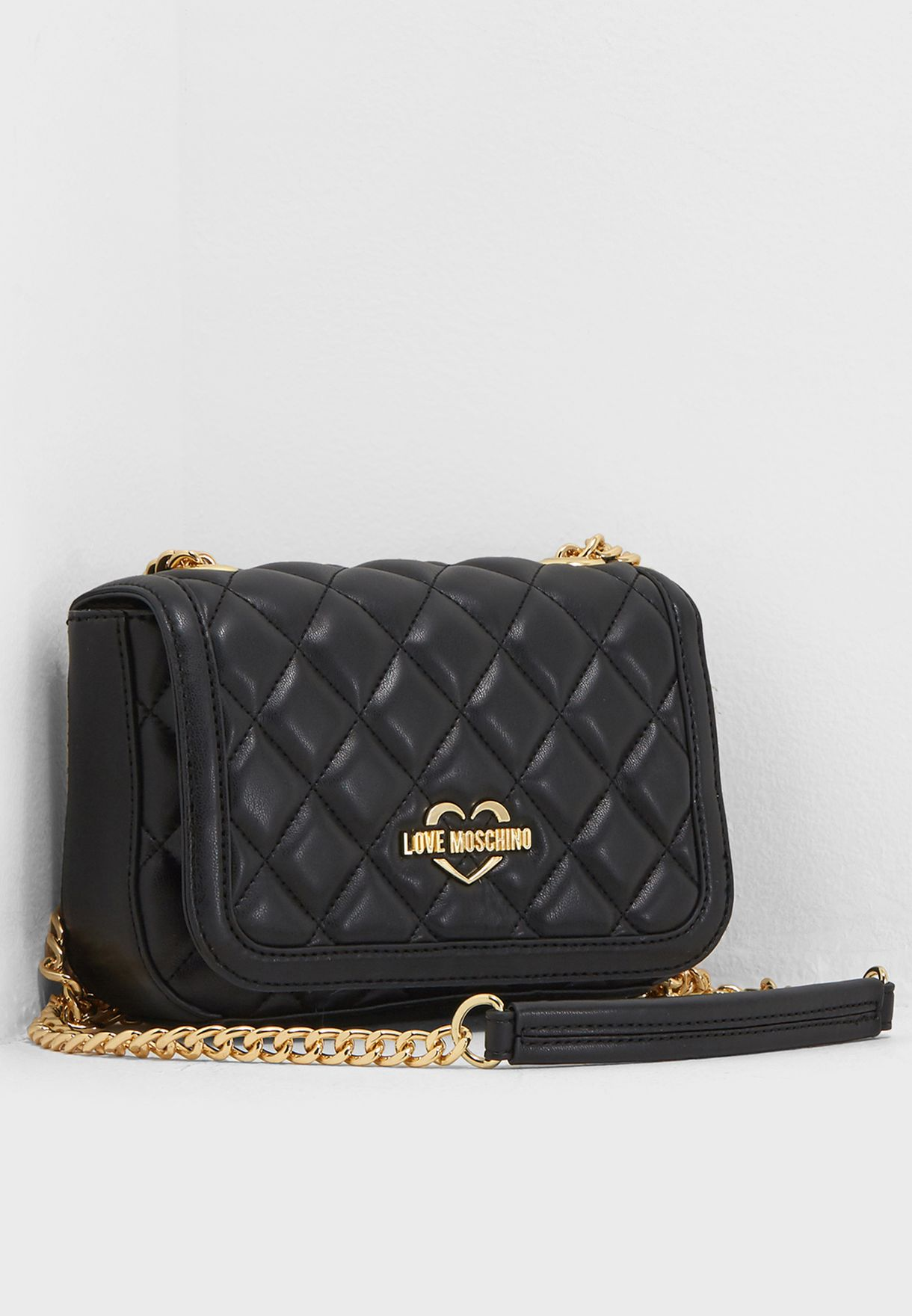 26bc793886 Shop Love Moschino black Superquilted Crossbody JC4207PP05KA000B for ...