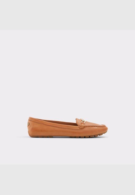 ALDO MARETTINI Women Genuine Leather Shoes Flat Heel Euro 42.5 Brown
