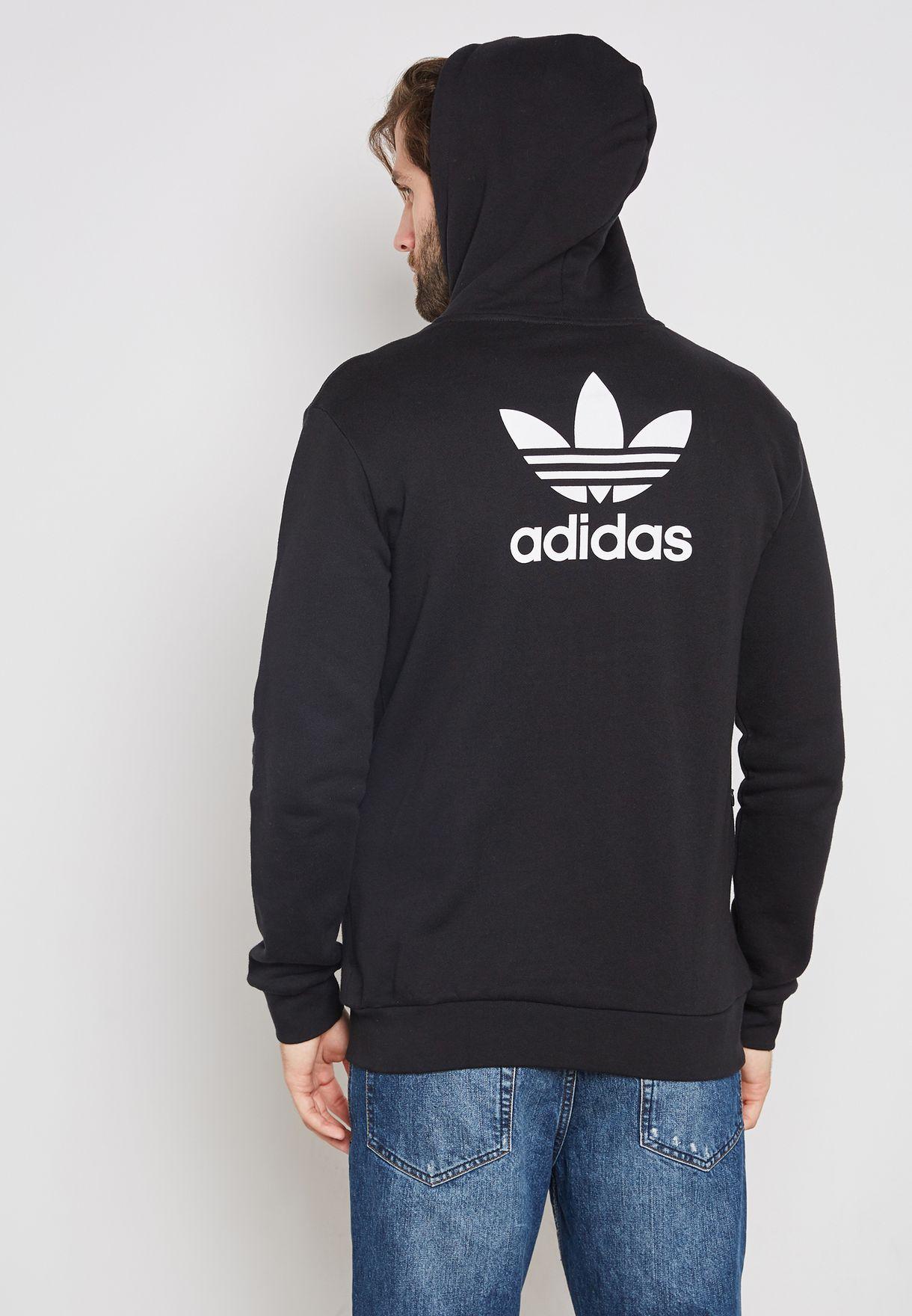 contacto impresión Dictadura  Buy adidas Originals black Trefoil Hoodie for Men in MENA, Worldwide |  DH5811