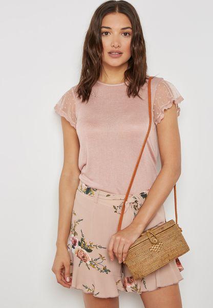 Lace Ruffle T-Shirt