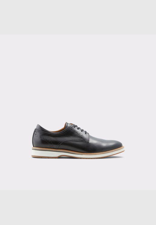 ALDO ASTEANFLEX Men Genuine Leather Shoes Flat Heel Euro 46 Black