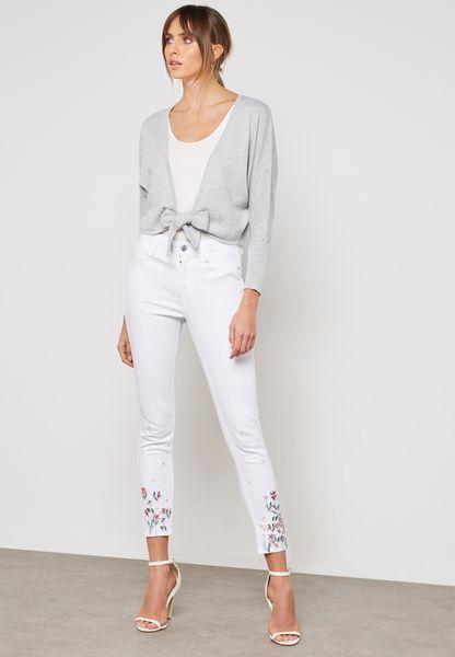 Darcy Mid Rise Annkle Grazer Skinny Jeans