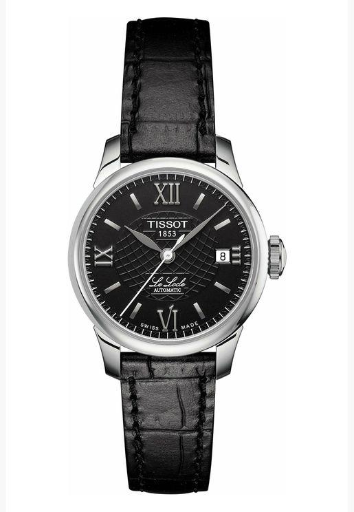ساعة تيسو لو لوكل للنساء بسوار جلدي - T41.1.123.57.1