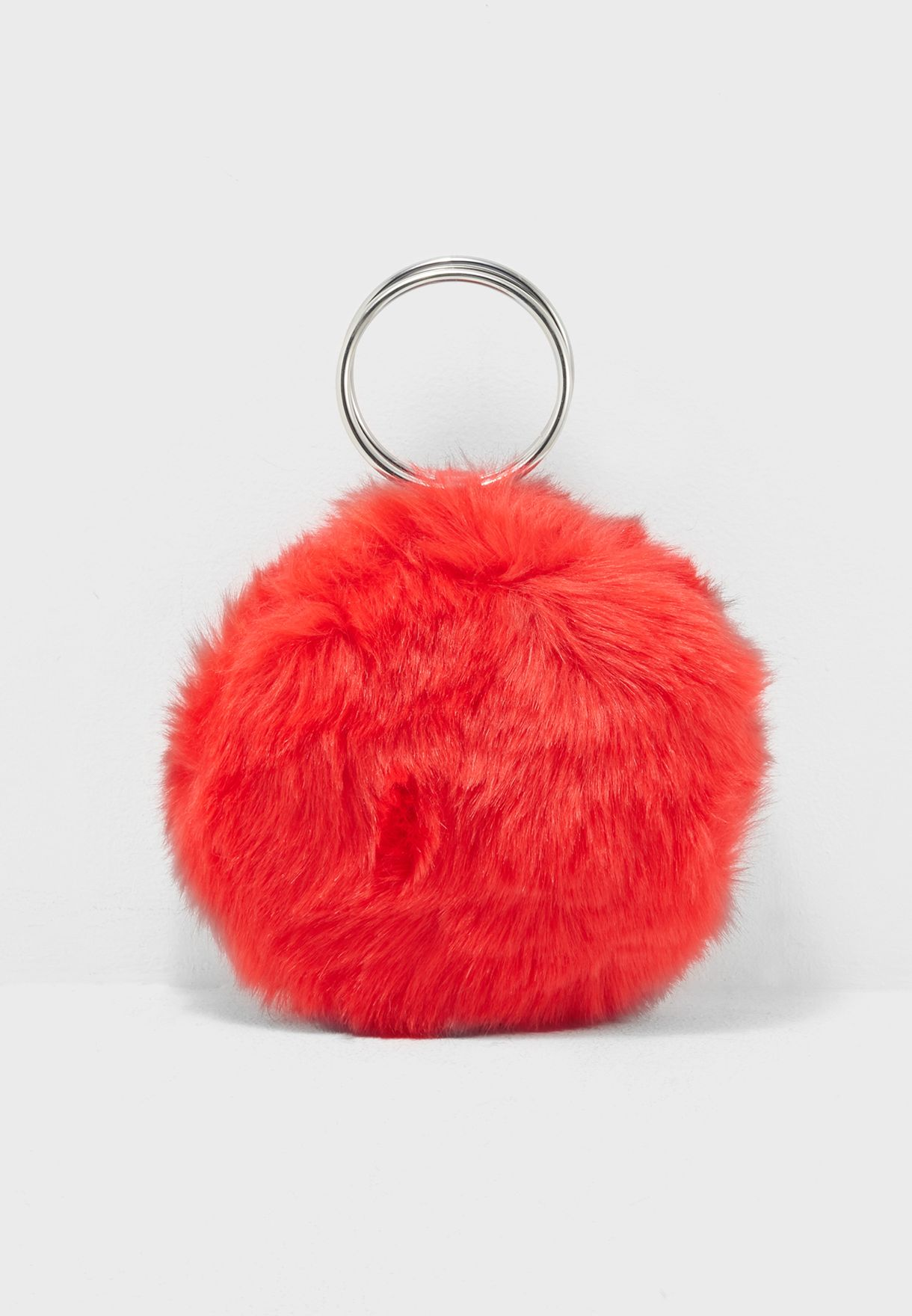 68d34cbb88 Shop Forever 21 red Faux Fur Round O-Ring Clutch 159495 for Women in ...