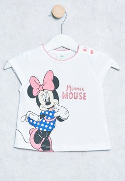 Baby Minnie Print T-Shirt