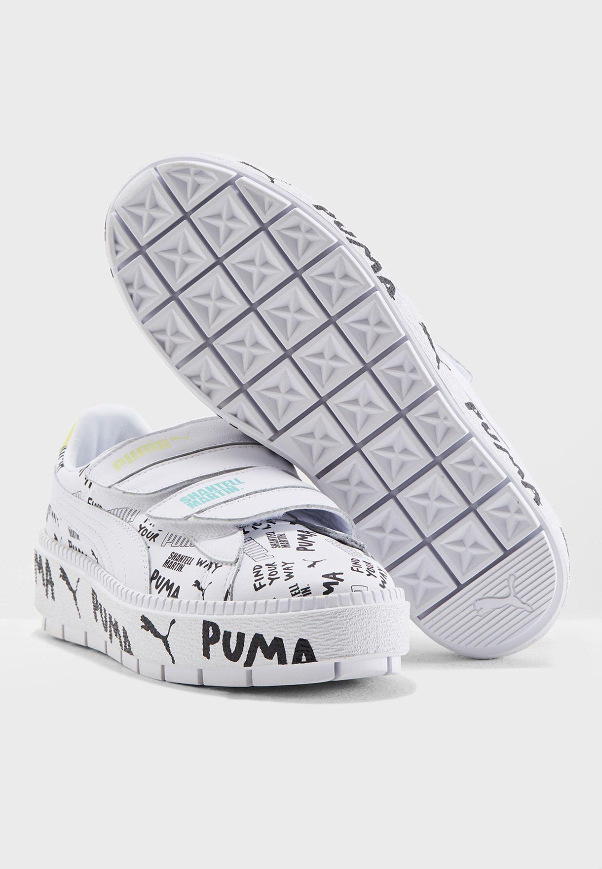 df5119c2bdd080 Shop PUMA white Shantell Martin Platform Trace Strap 36653301 for ...