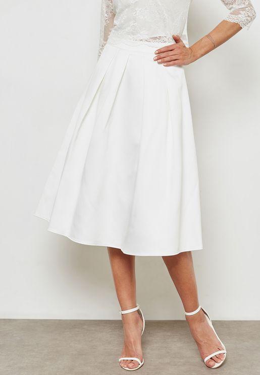 Pleated Bridal Skirt