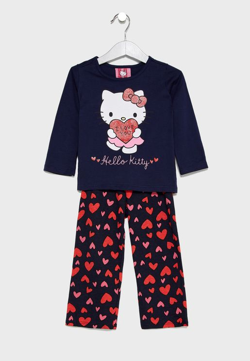 Kids Logo Printed Pyjama Set