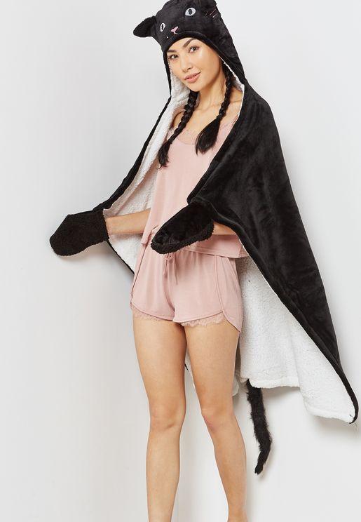 Caticorn Novelty Hooded Blanket