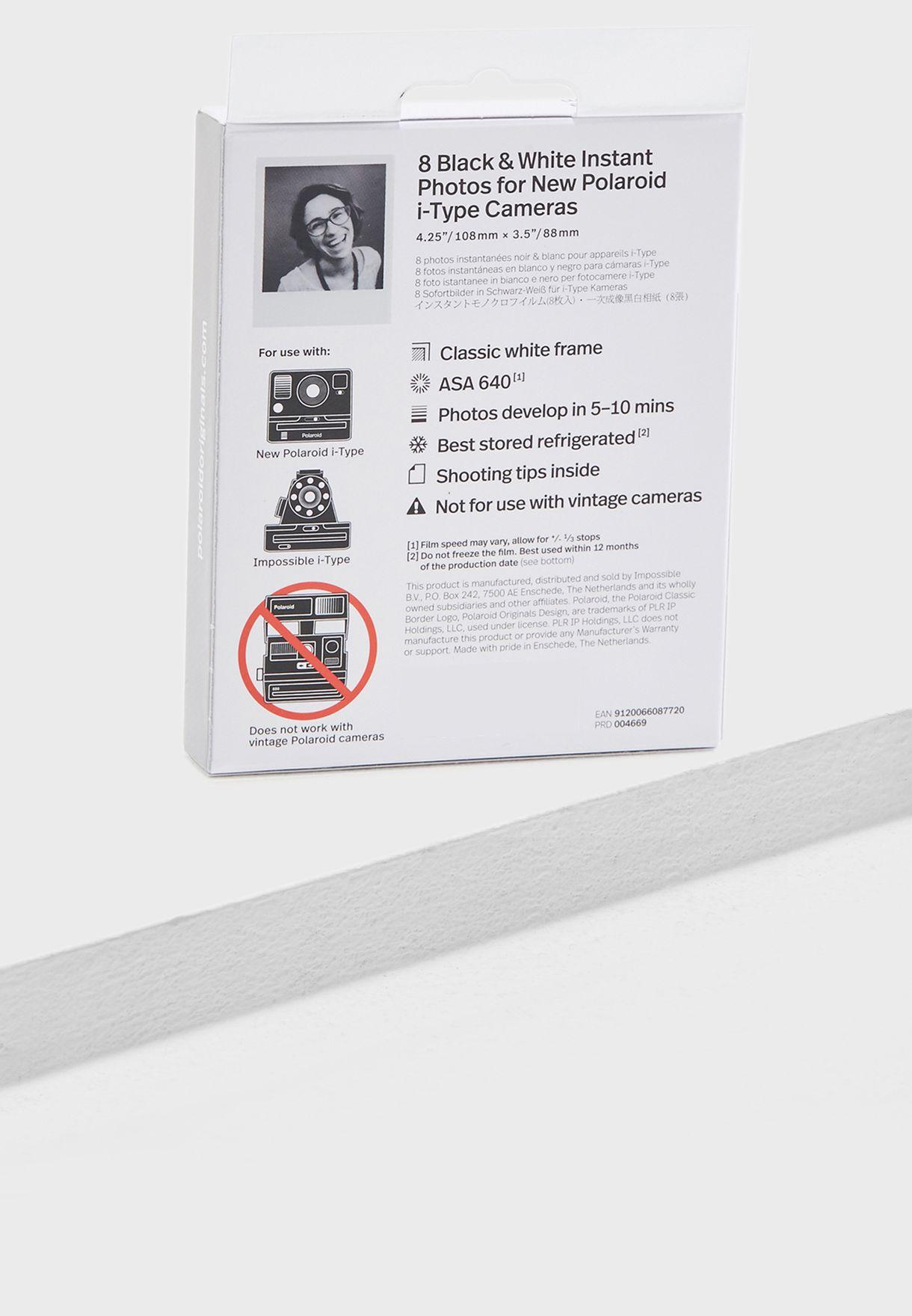Polaroid Black & White Film Pack Of 8