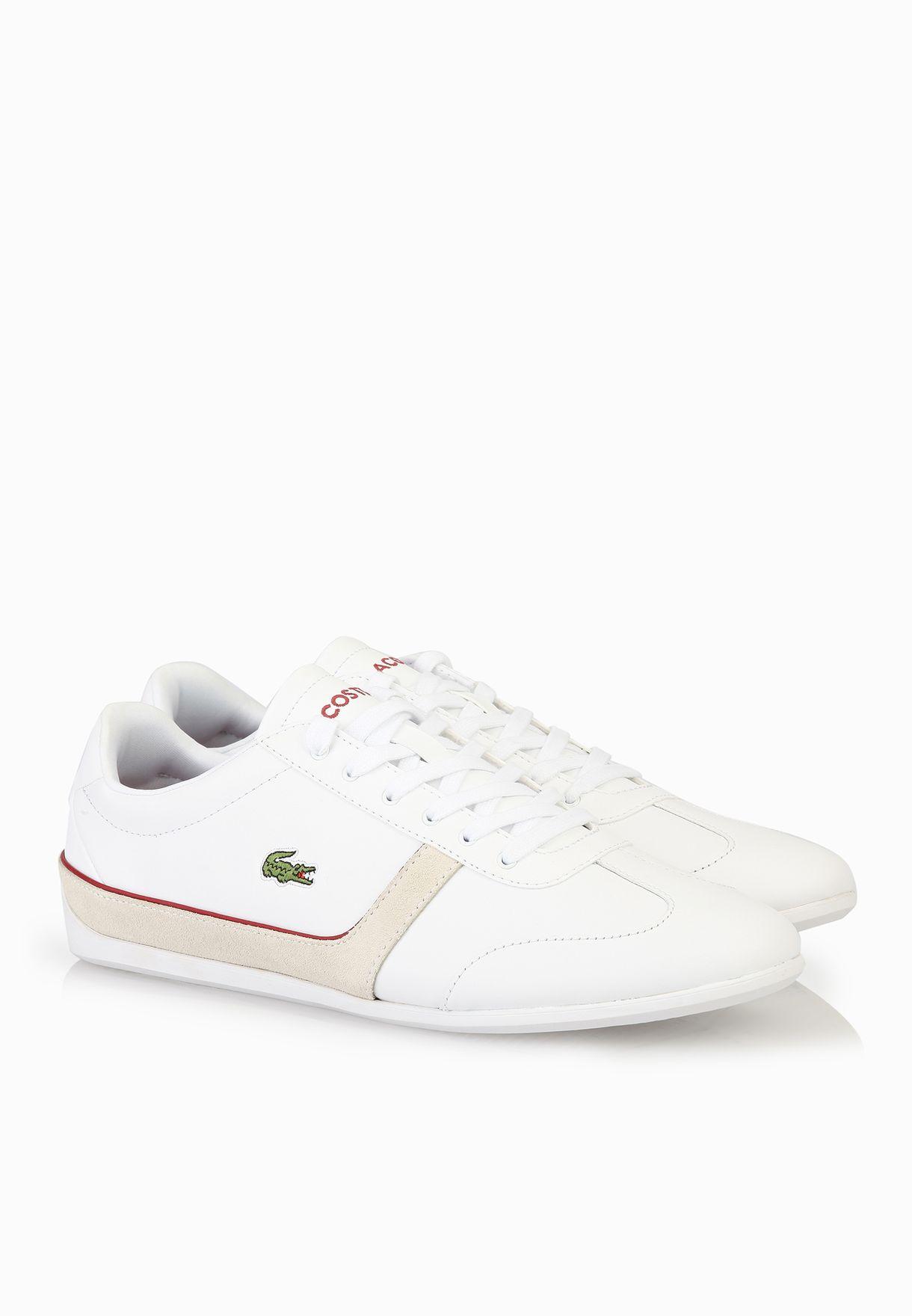 55453e927 Shop Lacoste white Missano Sport TRC Sneakers 30SPW0015-21G for ...