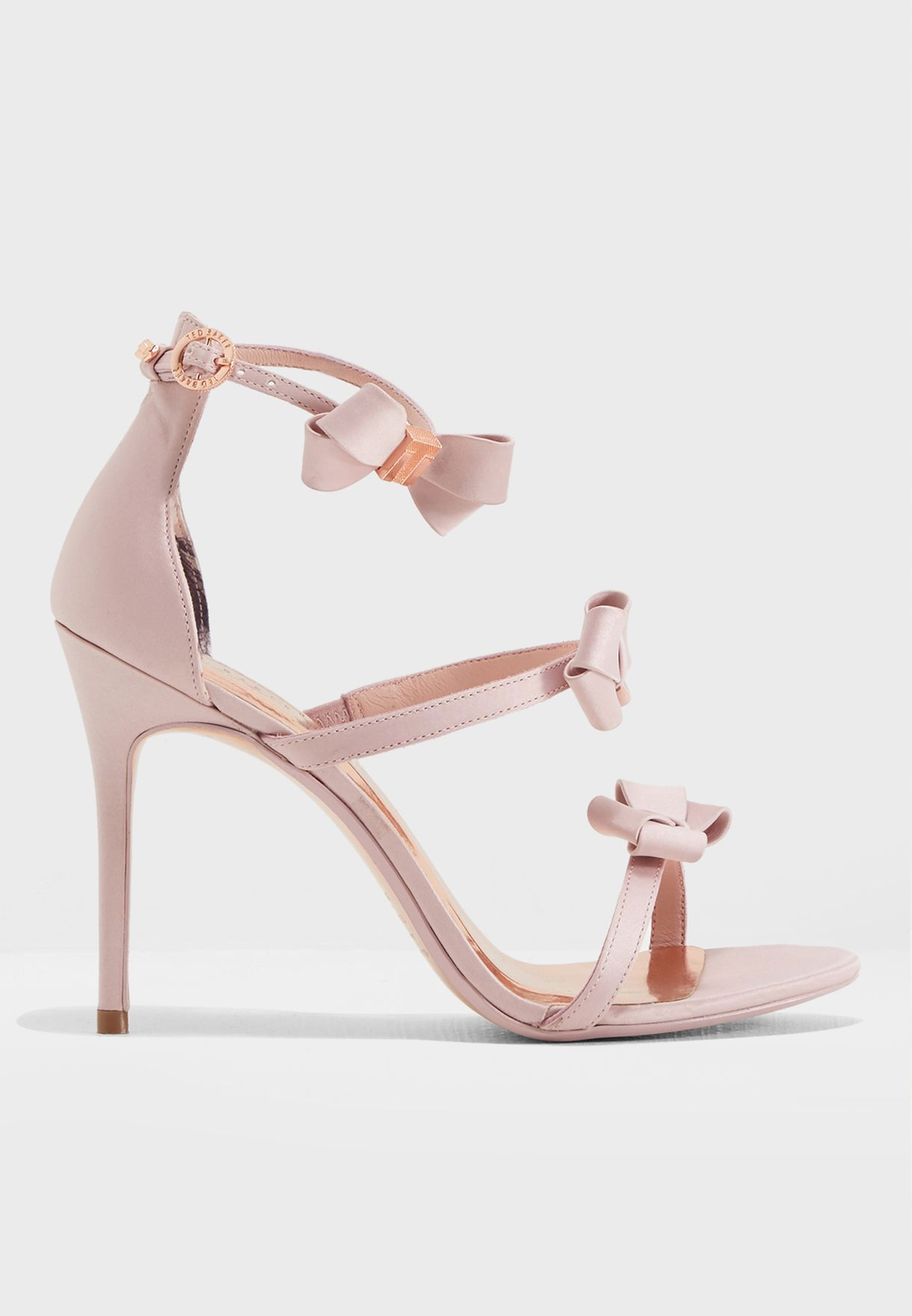 c0f248f7bc9 Shop Ted baker pink Nuscala Bow Heel Sandal 917263 for Women in UAE ...