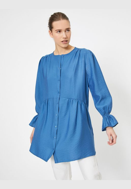 Button Detailed Tunic