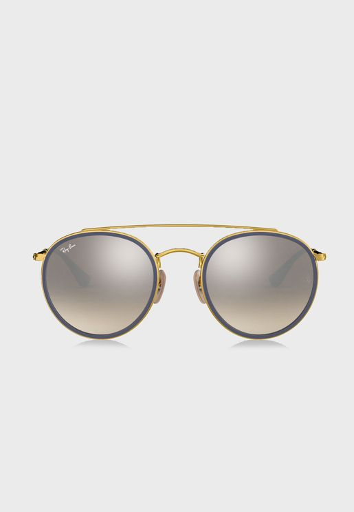 0RB3647N Round Double Sunglasses