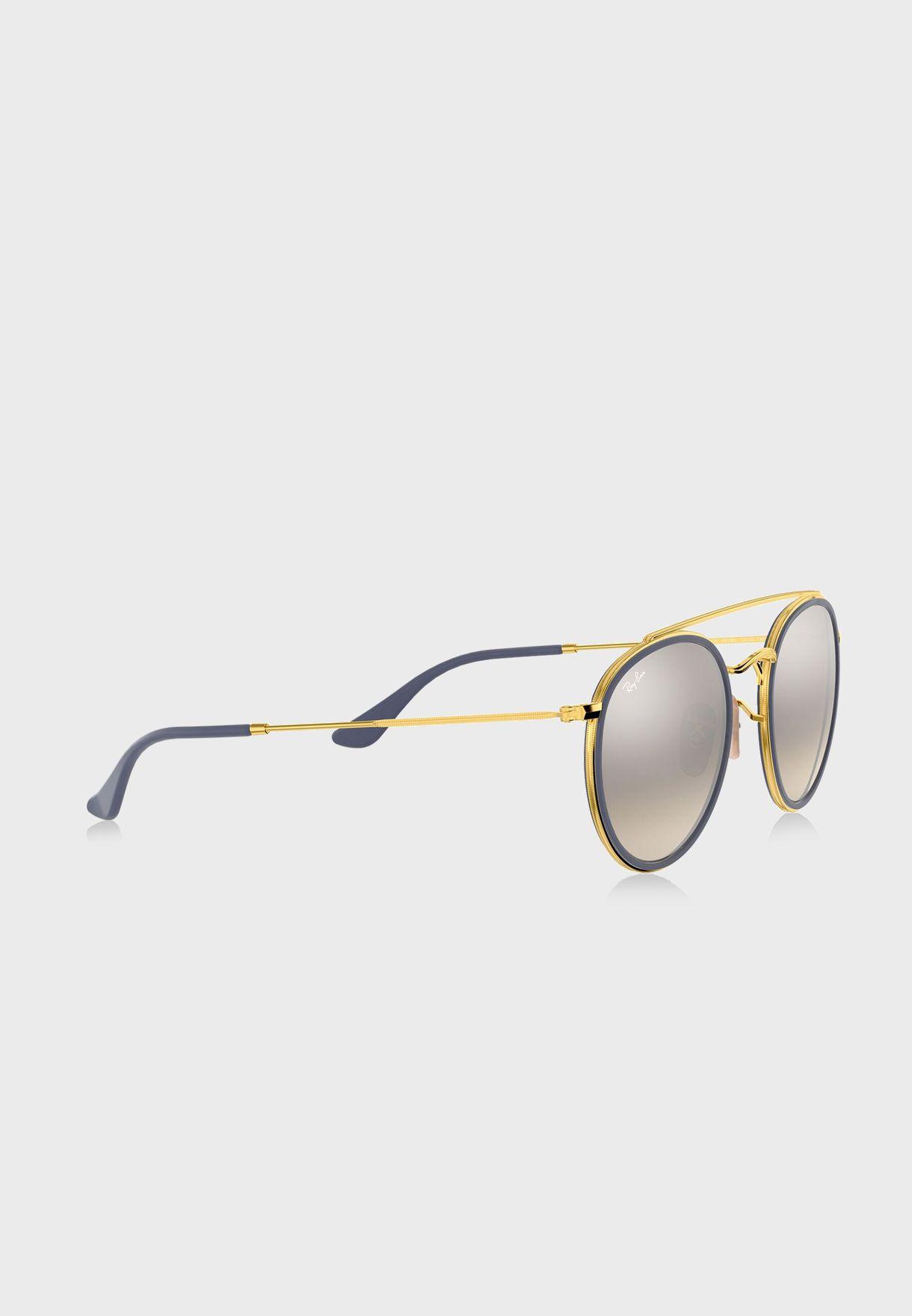 0RB3647N Round Double Bridge Sunglasses