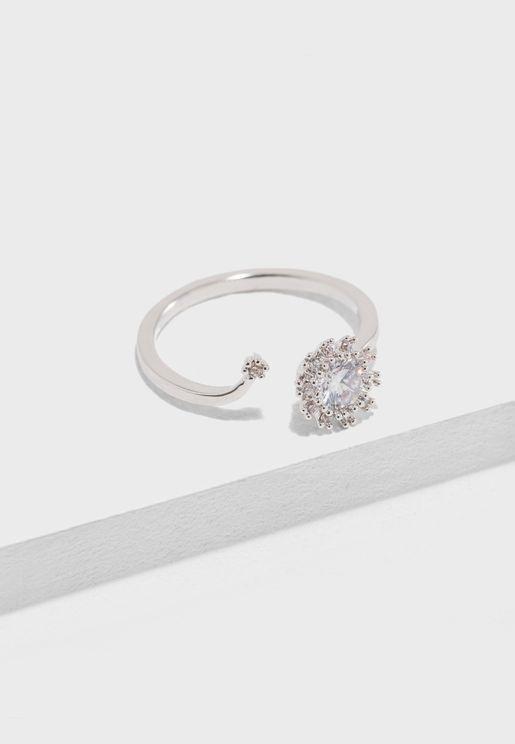 Faux Gemstone Split Ring