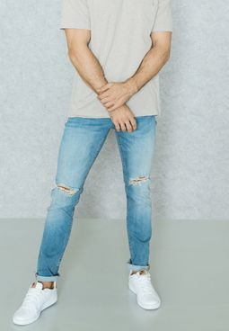 Looms Knee Cut  Jeans