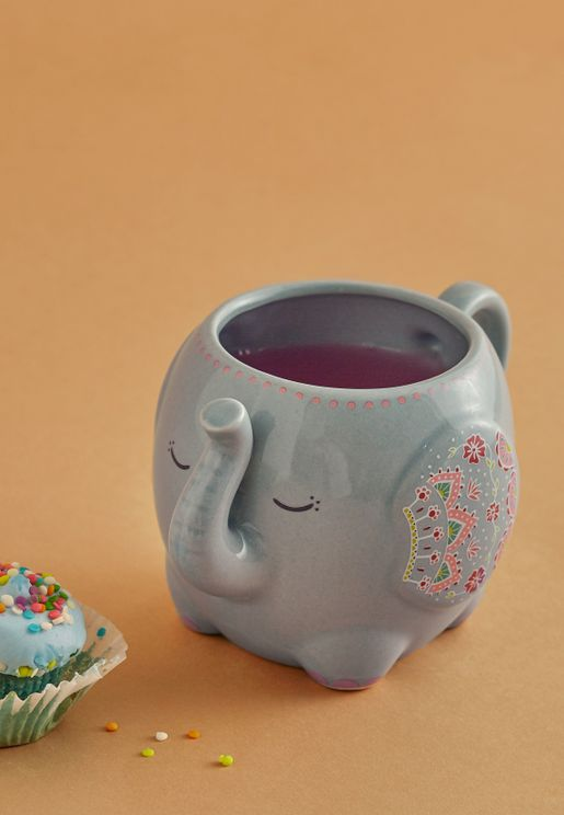 Shaped Elephant Mug