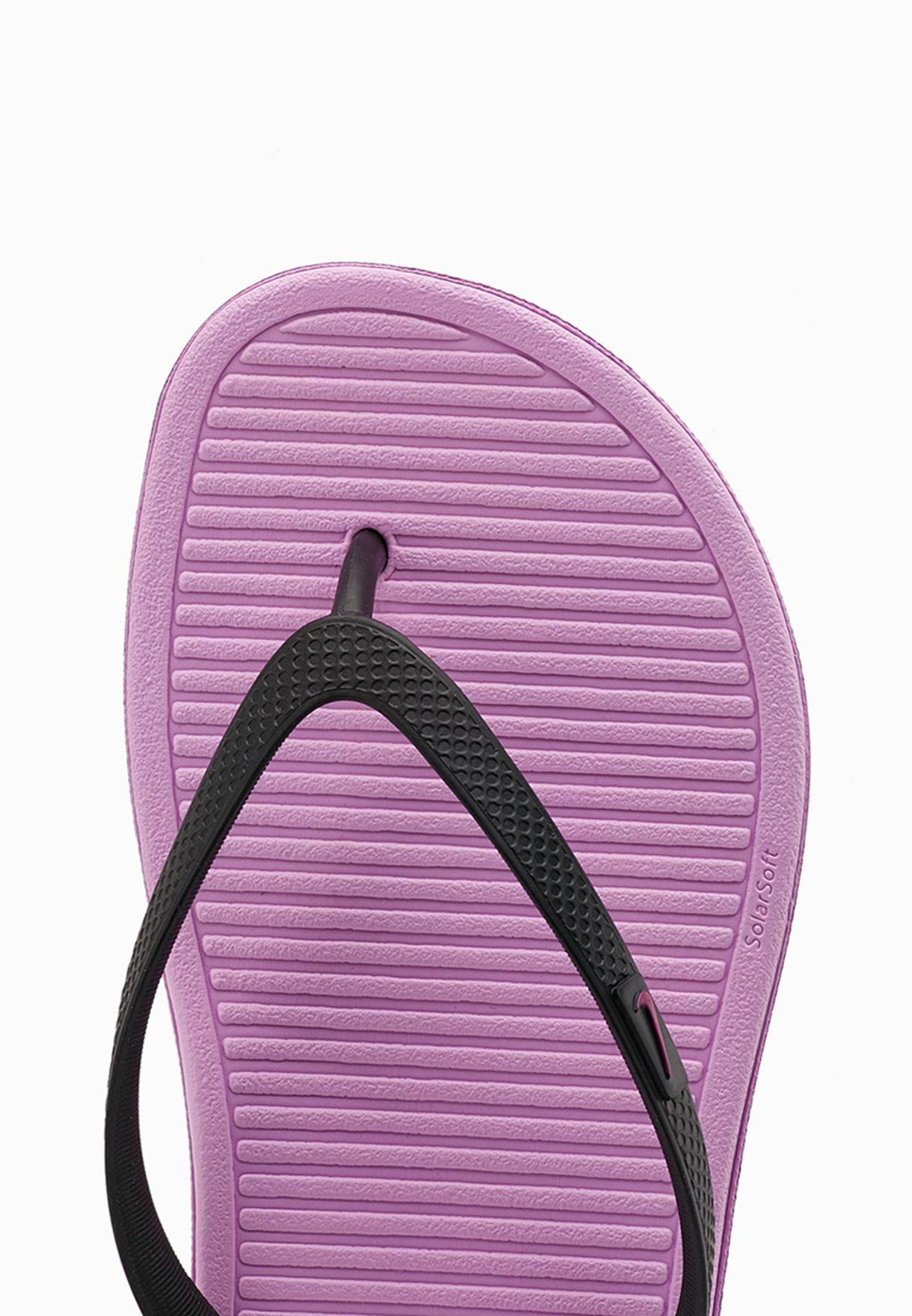 35f83f12c Shop Nike purple Solarsoft Thong II Flip Flops 488161-064 for Women ...