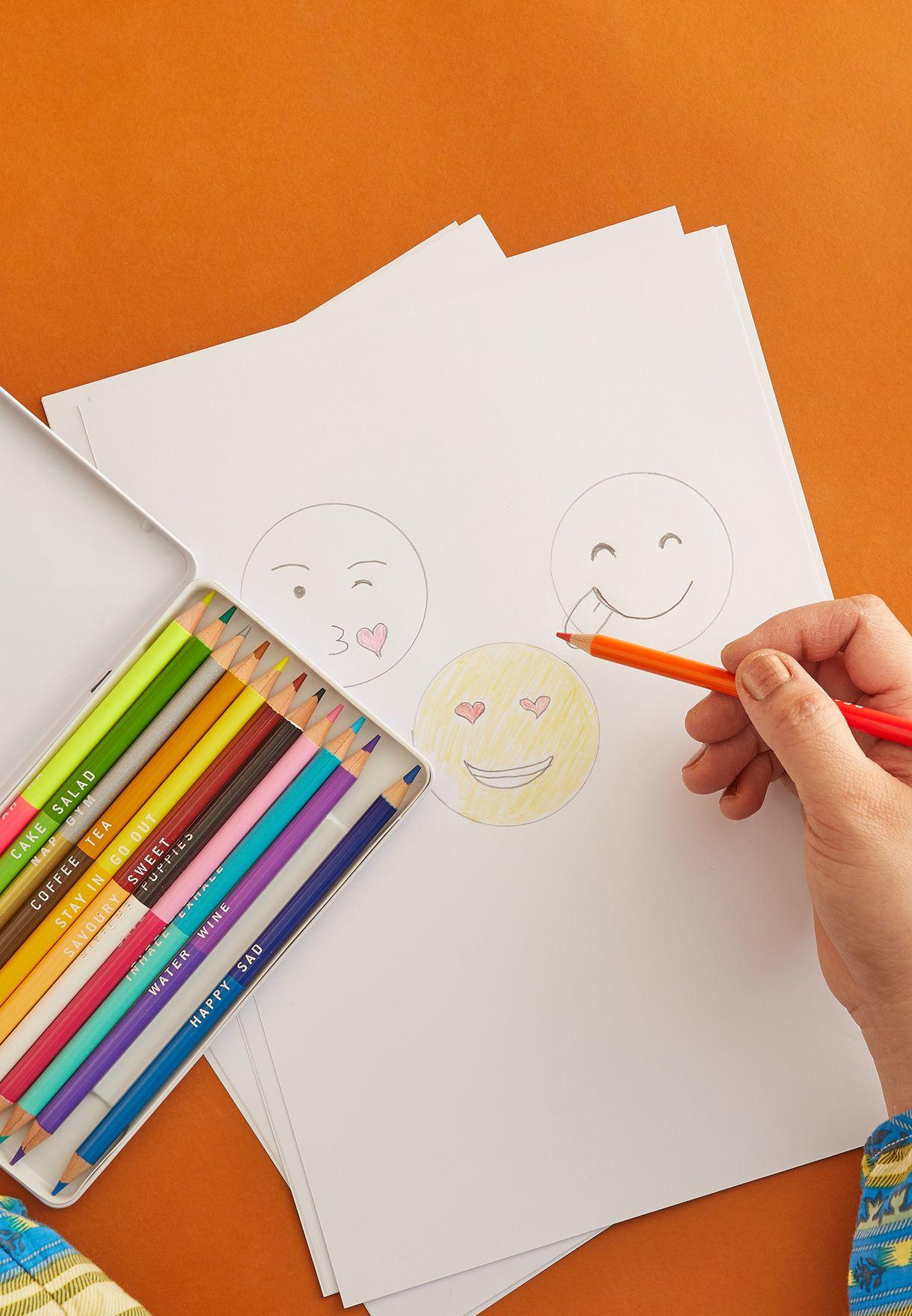 Mixed Emotions - Colouring Pencils