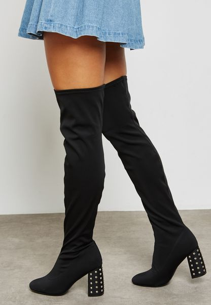 Flat Round Toe Long Boots