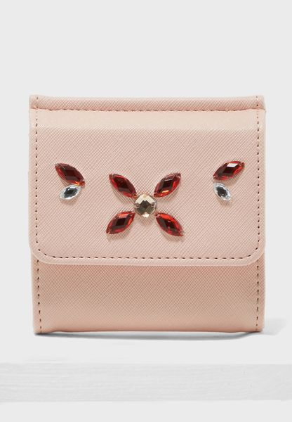 Small Embellished Flap Over Purse