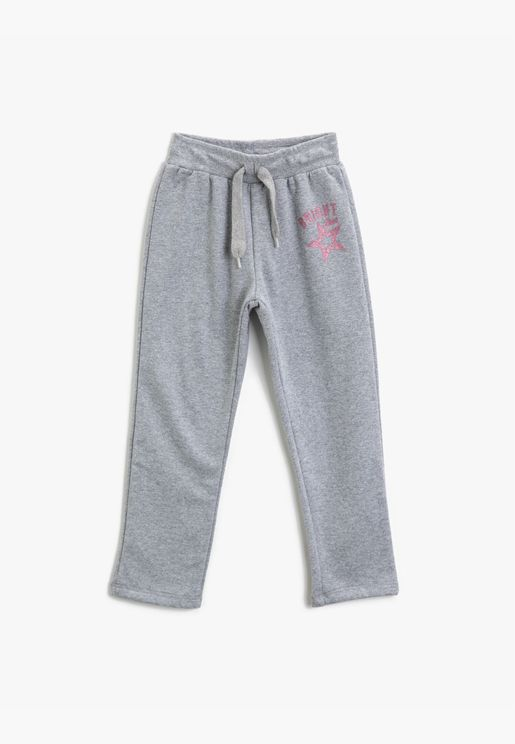 Cotton Printed Medium Rise Jogging Pants