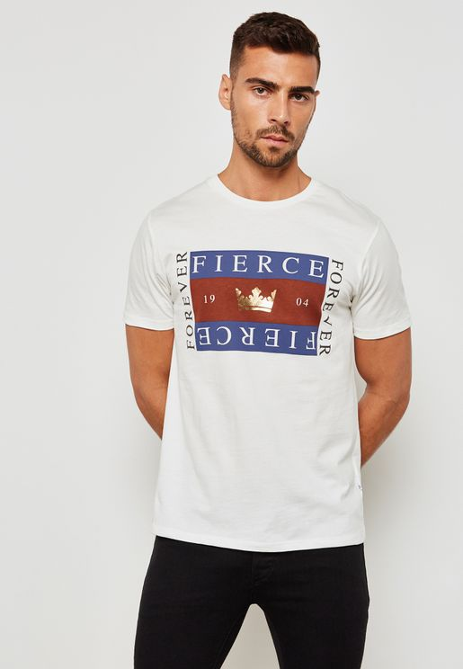 Fierce Print Crew Neck T-Shirt