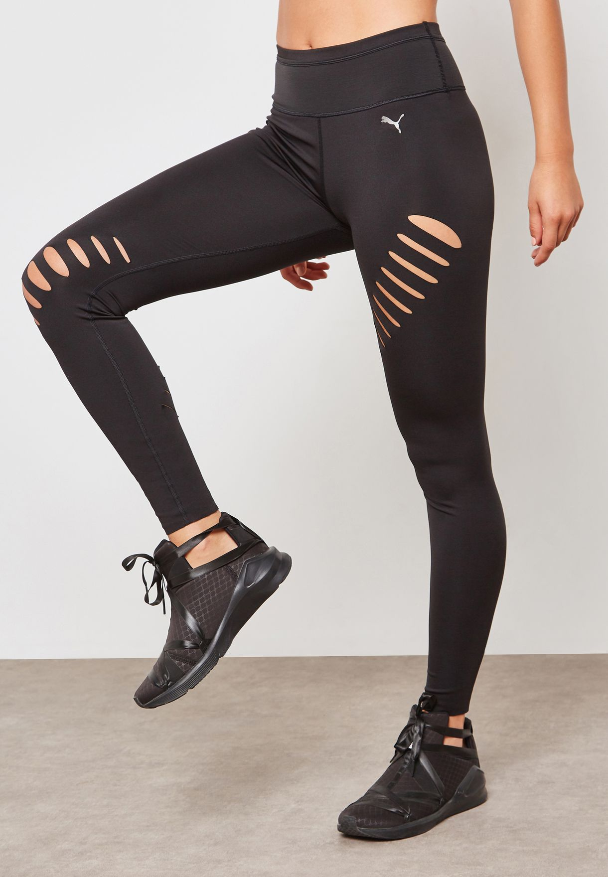 57b47a2c4 Shop PUMA black Explosive Slash Leggings 51673101 for Women in UAE ...