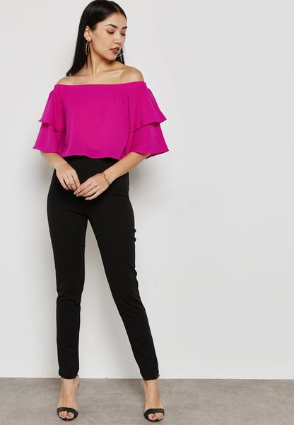 Colourblock Bardot Jumpsuit