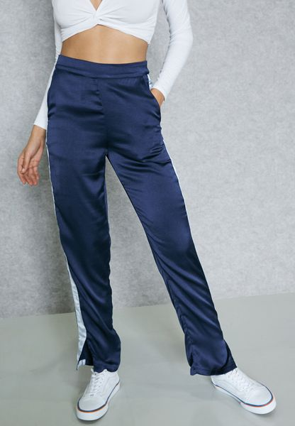 0cc63005aa Shop Pieces navy Side Slit Sweatpants 17084965 for Women in UAE outlet