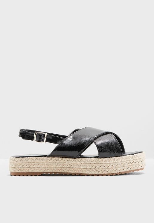 Selena Criss Cross Wedge Sandals
