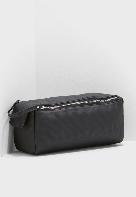 Brushed Double Zip Cosmetic Bag