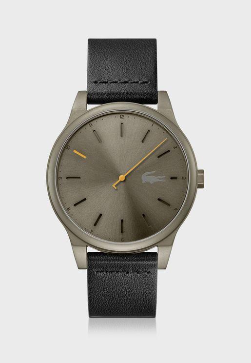 ساعة لاكوست كوتو بسوار جلد للرجال - 2011001