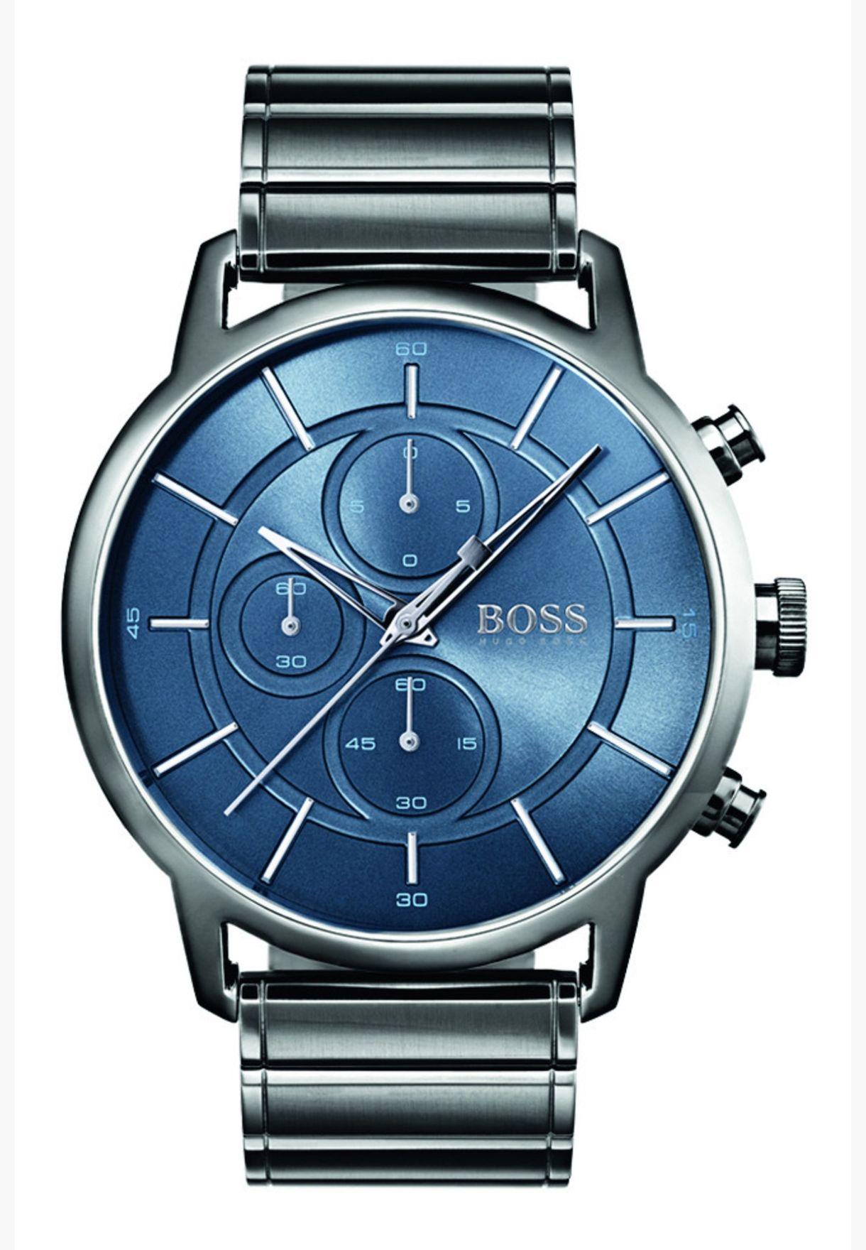 هيوغو بوس ساعة أركيتكتشرال للرجال بسوار من الستانلس ستيل - 1513574