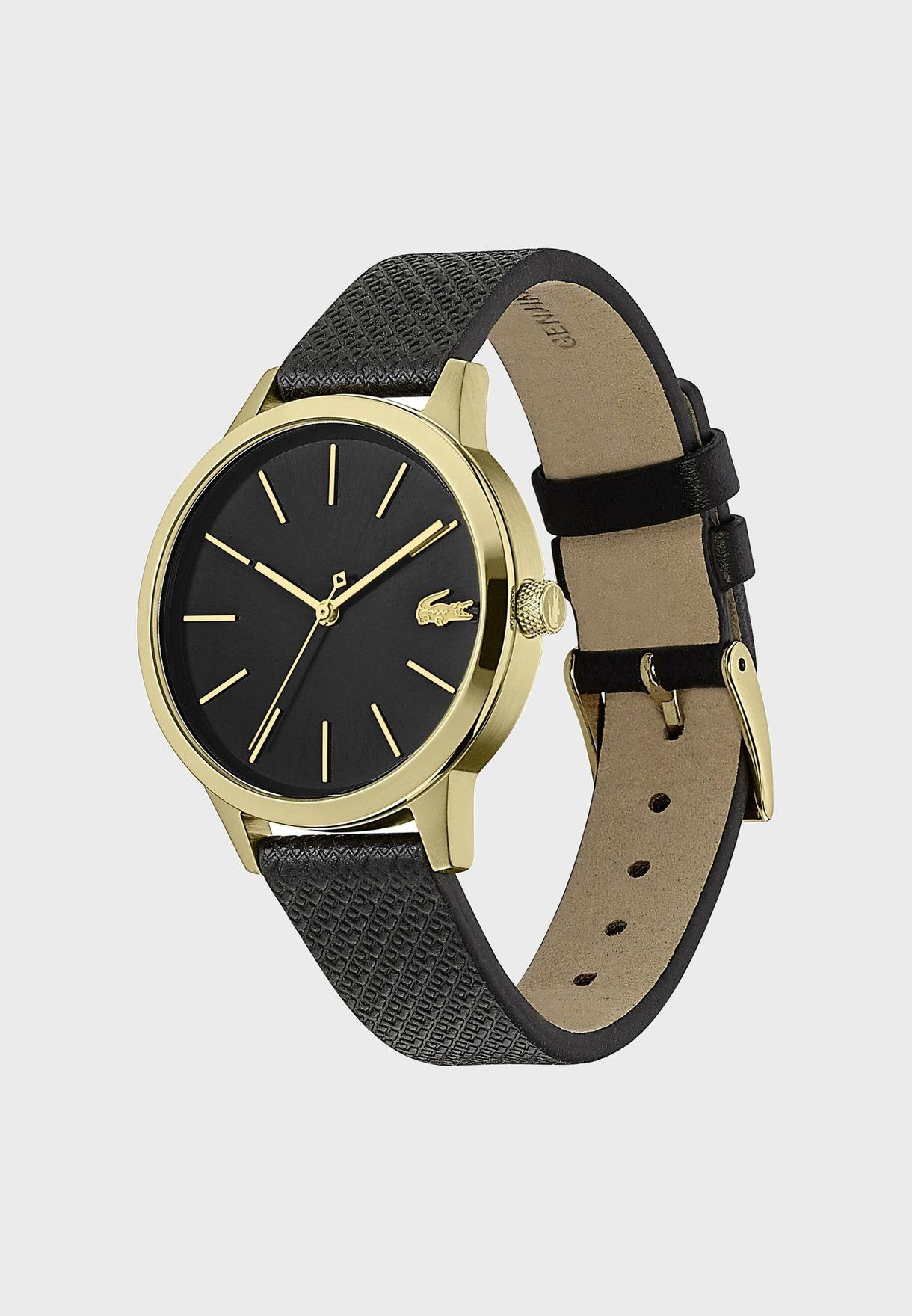 ساعة لاكوست L12.12 بسوار جلدي للنساء - 2001090