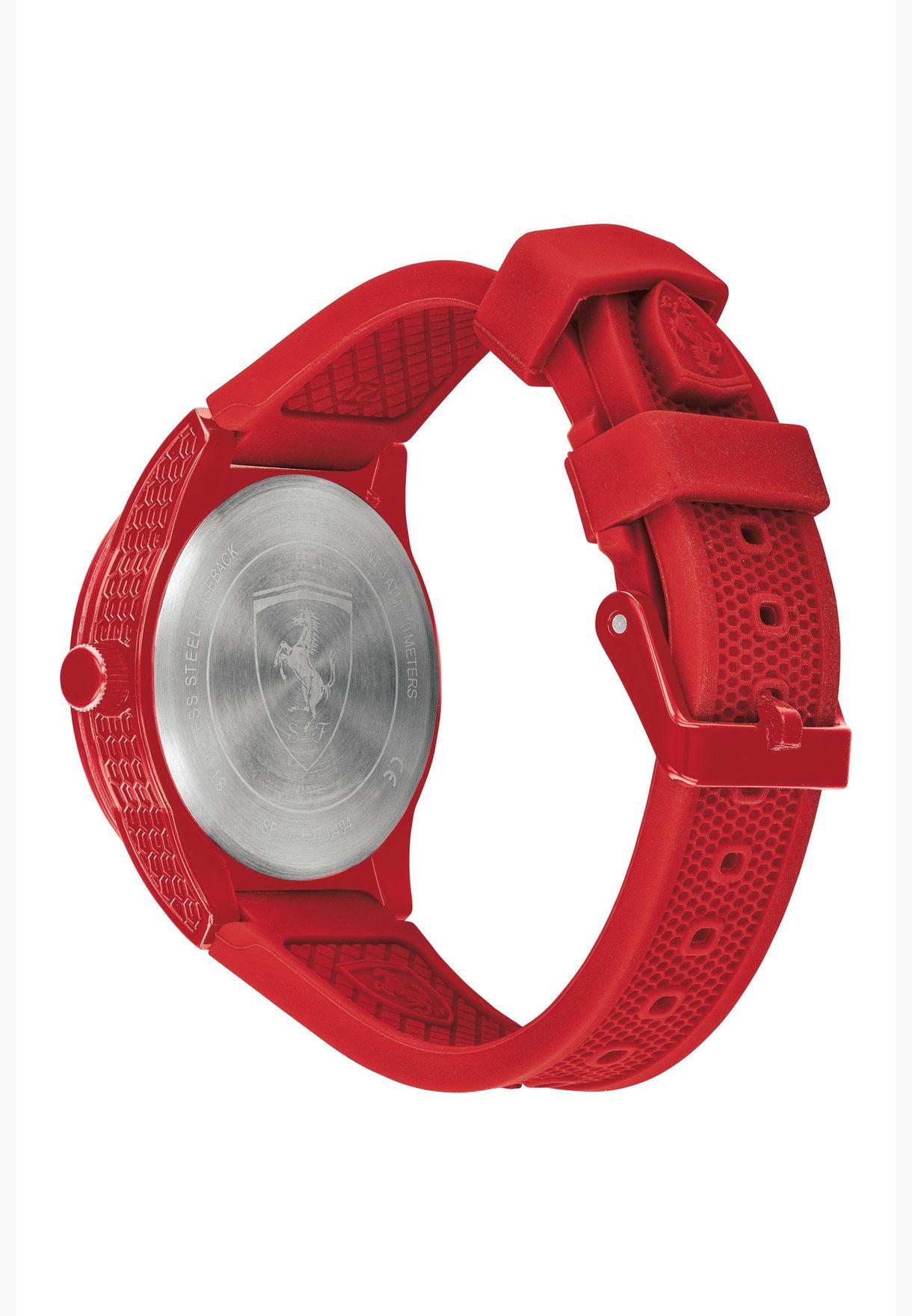 ساعة سكوديريا فيراري ريد ريف بسوار سيليكون للاولاد - 860010