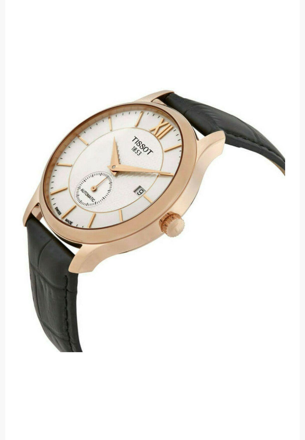 ساعة تيسو تراديشين بسوار جلدي - T063.428.36.038.00