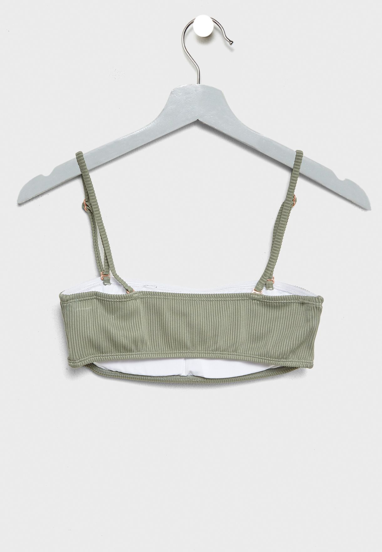 Rib Bandeau Bikini Top