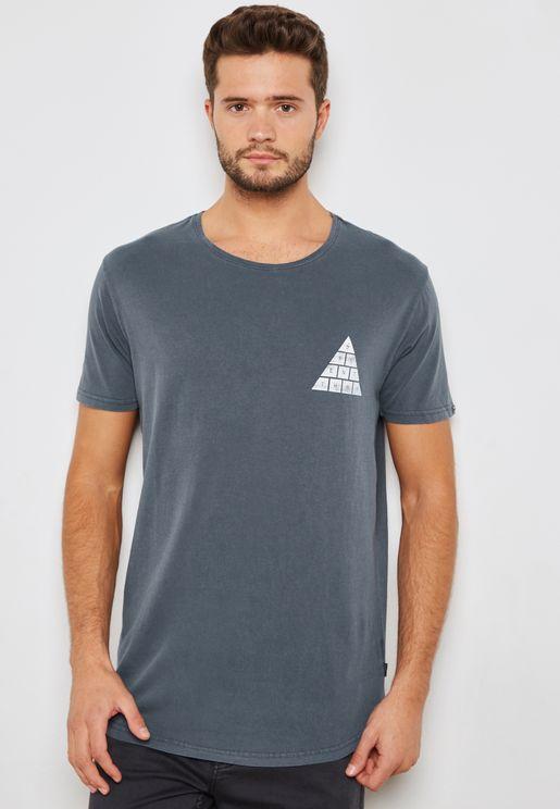 Spirited Graphic Back Print T-Shirt