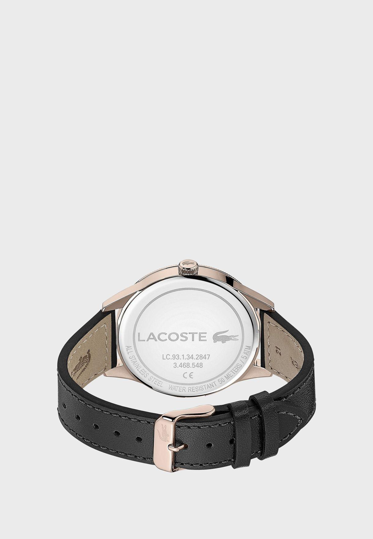 ساعة لاكوست لاكوست كونتيننتال بسوار جلدي للرجال - 2011042