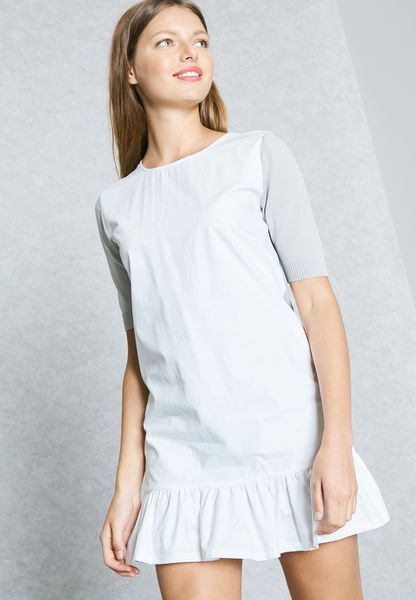Ruffled Detail T-Shirt Dress